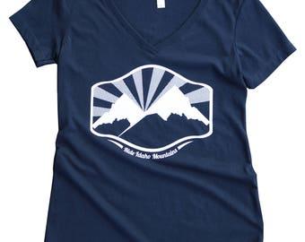 Idaho Mountain Tee- Ladies -BANANA ink