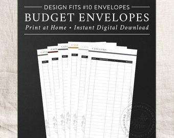 Printable Budget Envelopes, #10 Business Envelope, Expense Tracker, Home Budget, Log, Household Finance, Financial, Dave Ramsey, Cash System