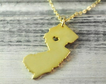 New jersey pendant etsy popular items for new jersey pendant aloadofball Image collections