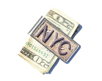 NYC Money Clip, Moneyclip, Billfold, Co Worker Gift, Best Graduation Gift, Gift for Dad, New York Photography