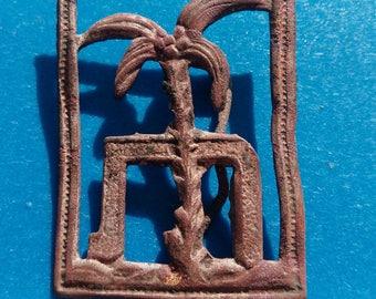 Jewish Brass Decorative element with Palm