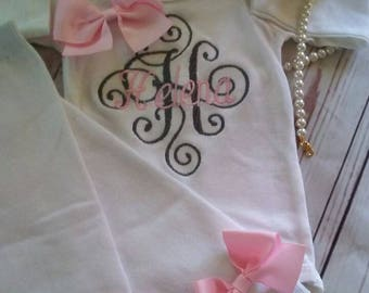 Baby Girl Clothes, Baby Girl Outfit, Baby Shower Gift, baby Girl Coming Home Outfit, monogrammed baby girl outfit, Take Home Outfit, baby