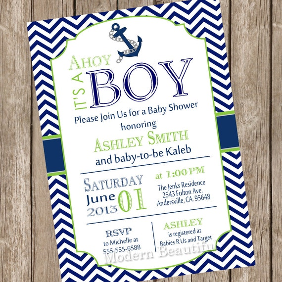 a card invitations baby free ultrasound of shower design its ahoy ideas boy