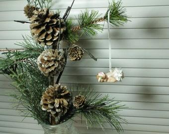 Polymer Clay Baby, Miniature baby Princess, OOAK Baby, Christmas baby ornament, OOAK Baby, baby Ornament, baby 1st Christmas, hanging baby