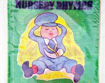 Vintage Cloth Book, SP cloth/rag book, vintage rag book, new old stock, cloth book, rag book, nursery rhyme, vintage child book, child book