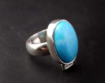 Electric Blue Arizona Turquoise Ring - Size 6