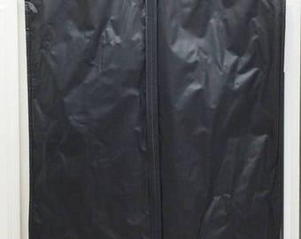 Vintage MITCHELLS Of WESTPORT Long Dress Suit  Zippered Garment Storage Travel Bag Black Vinyl  Travel Luggage Home Closet Storage