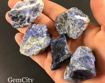 Raw Sodalite Crystals - Sodalite Stones, Healing Crystals and Stones, Raw Crystals, Sodalite Stone, Crystals & Minerals, Chakra Stones