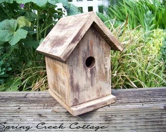 Bird Houses, Shabby Chic, Brown, Cedar Bird House, Handmade, Cottage Chic, Home Decor, Housewarming Gifts, Home & Living