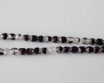 4mm Faceted Czech Glass Beads