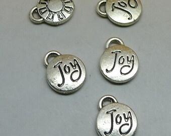 25pcs Joy Charms, 10x21mm Antique Silver Joy Charms Pendant, Jewelry Findings