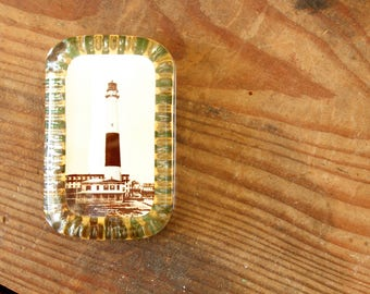 Antique Seaside Souvenir Atlantic City Souvenir Paperweight Glass New Jersey Lighthouse Collectible Display Boardwalk Jersey Shore