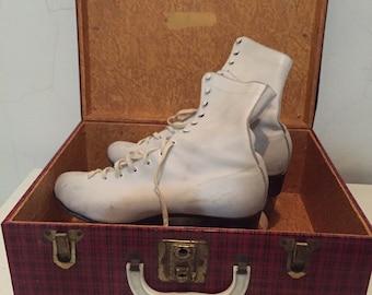 1950s Chicago Roller Derbey White Roller Skates in Original Archie Comics Box