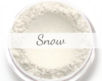 """Eyeshadow Sample - """"Snow"""" - shimmery white - all natural mineral makeup"""