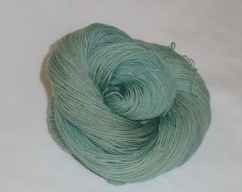 Hand dyed sock wool in sage green Grace 75 SW BFL 25 nylon yarn indie dyed