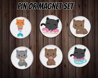 Fridge magnet   kitchen magnet   dinner gift   cat magnet   friend gift    host gift   party gift   cat gift   party favor