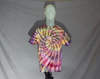 Handmade Ice Dye T-Shirt: Large 17