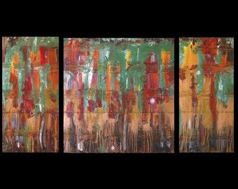 Original Art for Sale, Join 526 Collectors Worldwide, Was 425 Now 245, Fine Art, Metal,Abstract Landscape,Modern,Copper,Karina Keri-Matuszak
