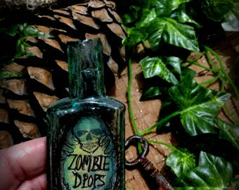Bottle  Vintage Halloween Decoration Zombie Drops Poison Bottle