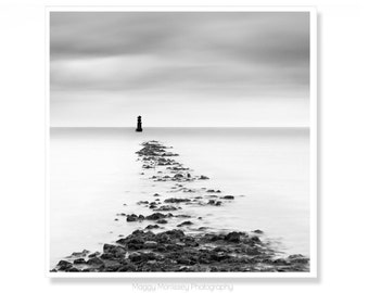 Lighthouse Art Print, Minimalist Wall Decor, Housewarming Gift, Irish Art Made In Ireland, Dublin, Living Room Decor, Irish Gift for Him