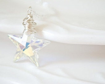 Crystal Star Necklace - Sterling Silver | Gold Filled | Ox Silver | Swarovski Necklace