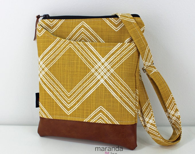 ZOE Messenger Cross Body Sling Bag - Colton Saffron Yellow  READY to SHIp