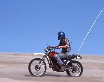 Vintage 35mm Photo Slide Motor Cycle Dirt Bike Sleeping Bear Sand Dunes