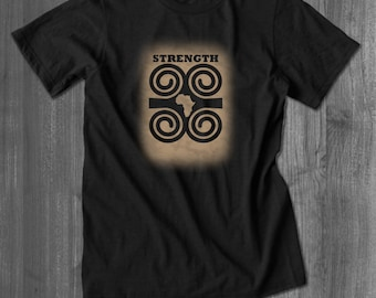 Dwennimmen Strength African T shirt african symbol tops and tees t-shirts t shirts| Free Shipping