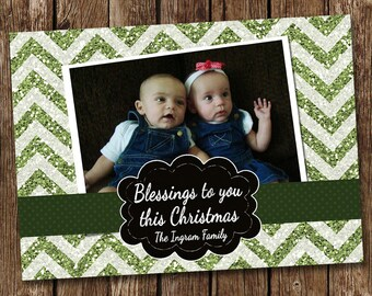 Blessings to you Christmas Photo Card