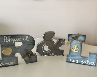 Letters Wood for Couples