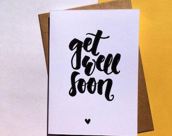 Handwritten Get Well Soon Card