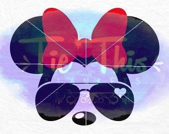 Minnie Mouse Sunglasses SVG Cutting File
