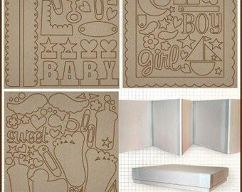 "Fancy Pants 8"" x 8"" Chipboard Baby Steps Box Set"