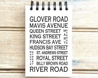Fort Langley B.C. - Love This Place - Street Name Notebook - Busroll Notepad Journal Custom Gift - Vancouver Canada