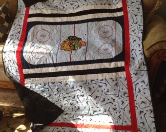 Blackhawks Hockey Rink Quilt
