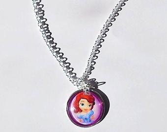 cabochon necklace Princess sofia