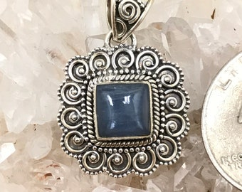 Petite Kyanite Pendant Necklace