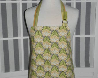 Womens Kitchen Apron - Amy Butler Lotus Pond Fabric