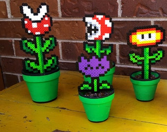 Potted Mario Perler Plants.. Various sizes available! Details in listing!