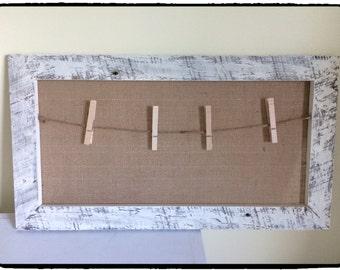 Large Burlap Memo Board