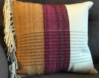 Maroon and Yellow Pillow