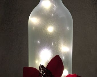 Christmas Wine Bottle with Lights