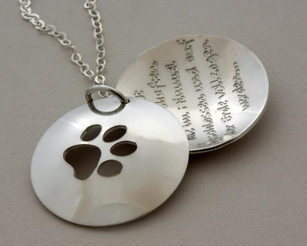 Dog or cat lover gift paw cut out necklace love walks on zoom aloadofball Image collections