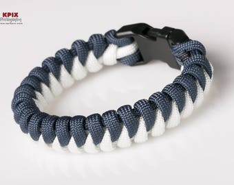 New York Yankees Paracord Survival Bracelet with side release buckle, Fishtail