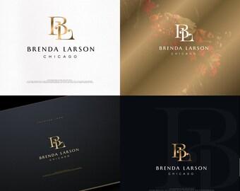 Unique Monogram,Makeup,Initials, Gold Foil,Real Estate,Blog Logo,Interior design,Jewelry,Monogram,Premade Logo,Photography,Minimal,Simple