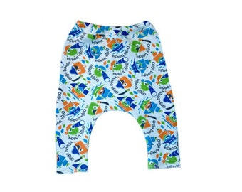 Baby Boys' Ooga Booga Pirate Pants. 4 Sizes for Preemie and Newborn Babies up to 0-3 Months. Sweet Addition to Coming Home Outfit.