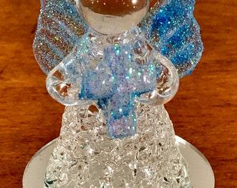 12 Angel Baptism First Communion Favor Personalized Recuerdo  De Primera Comunion  o Bautizo De Crystal