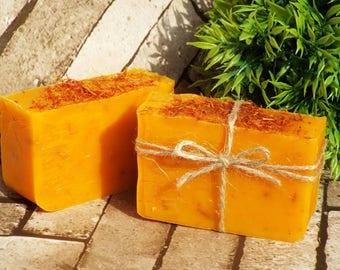 Natural handmade soap bar, bath gift, wife gift, Lemongrass & Safflower soap, bath and body, soap gift, SLS-free, paraben-free, gift for her