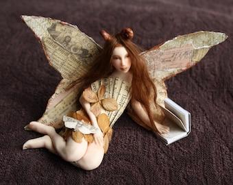 Fantasy Creature:  Library Moth Fairy