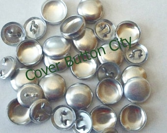 100 Cover Buttons Size 20 (1/2 inch) -  Wire Backs